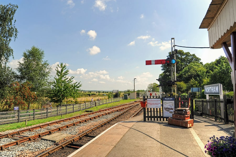 Northiam Station on the Kent and East Sussex Railway