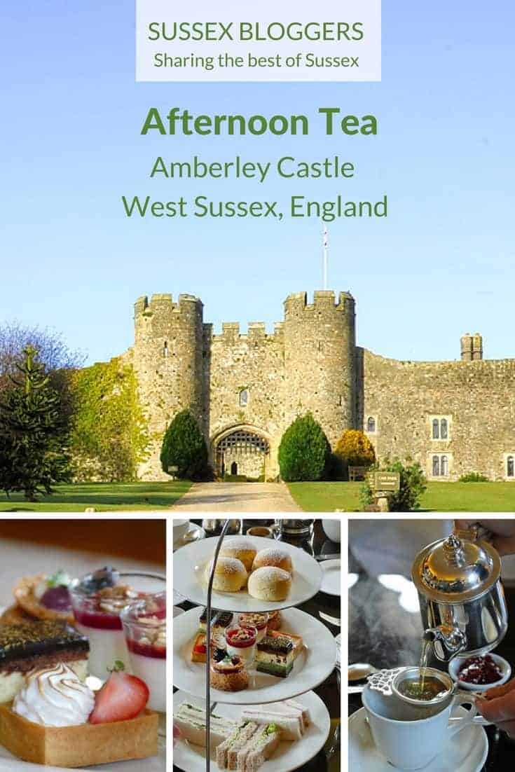 Afternoon tea at Amberley Castle, with a gluten free option perfect for coeliacs. A fabulous treat in a stunning setting in West Sussex, England.