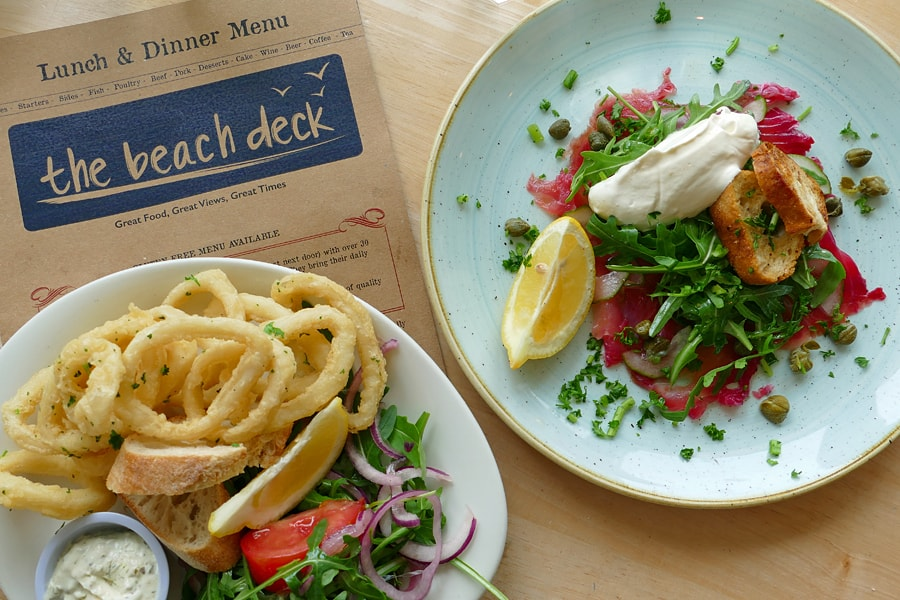 Great food and sea views at The Beach Deck, Eastbourne