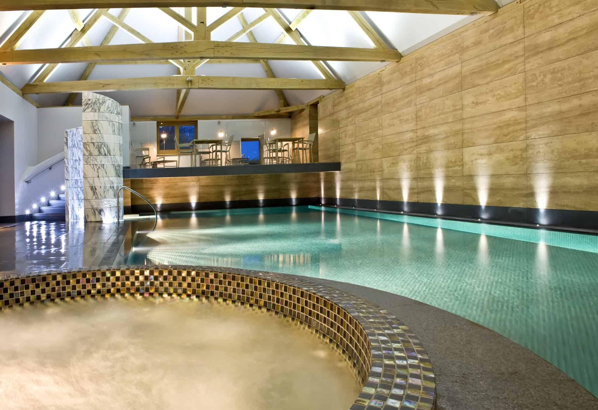 The soa's swimming pool at the Park House Hotel, Bepton, nr Midhurst, West Sussex, England