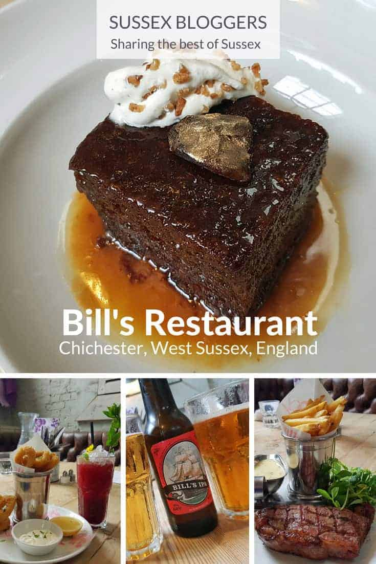 Bill's Restaurant, one of the best restaurants in Chichester, West Sussex, England and home to my favourite pudding in the world