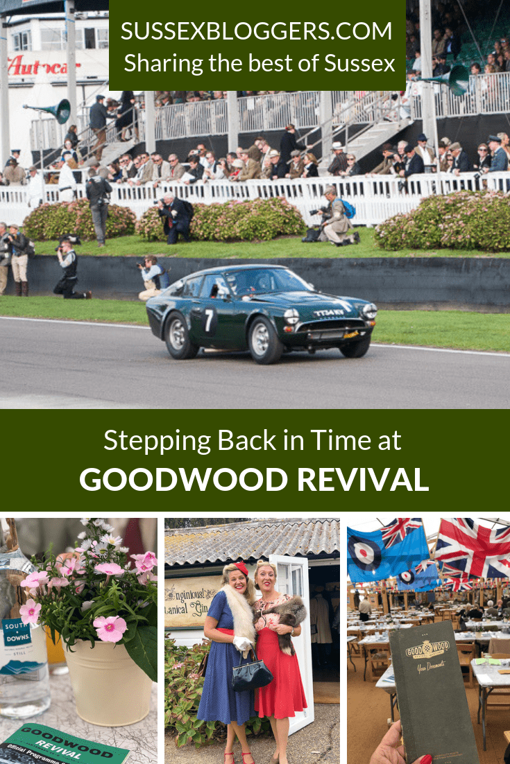 Stepping back in time at Goodwood Revival in West Sussex. A day of vintage motor races, aircraft and retro clothing #goodwood #goodwoodrevival #vintage clothing #classiccars #motorracing #sussexbloggers