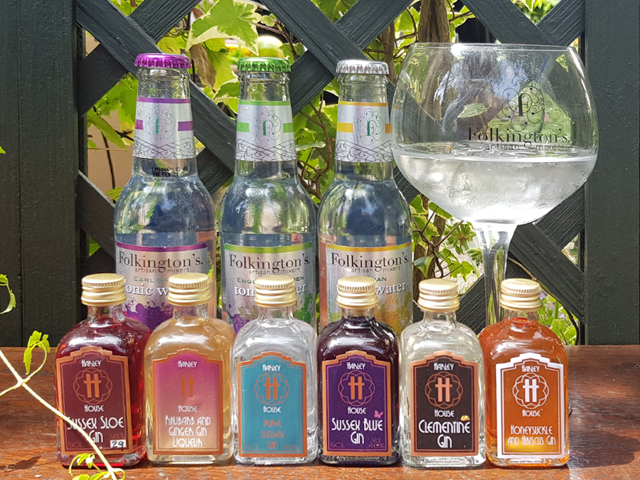 A range of gins and tonics from Sussex
