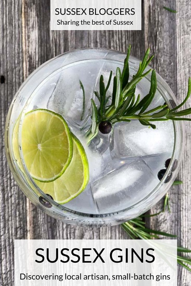 Sussex gins - a round up of the best artisan, small-batch Sussex gins