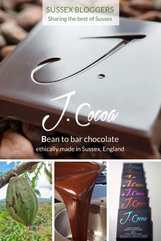 Sussex Bean to Bar Chocolate rom J. Cocoa