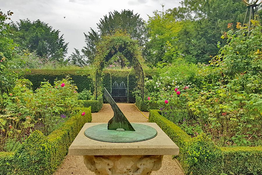 The rose garden at Arundel Castle, West Sussex