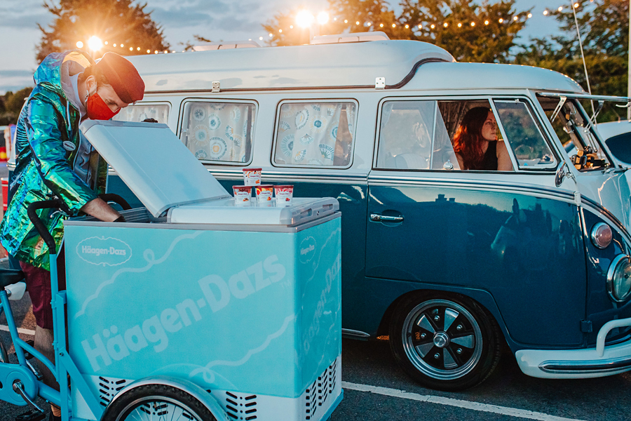 Ice cream at Secret Cinema's Drive-in