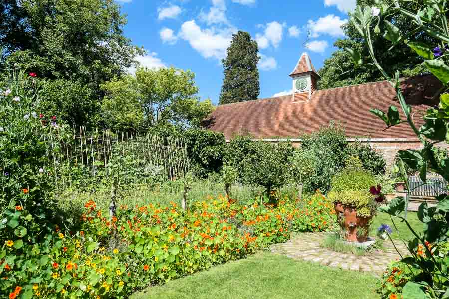 Kitchen Garden Pashley Manor Gardens in East Sussex