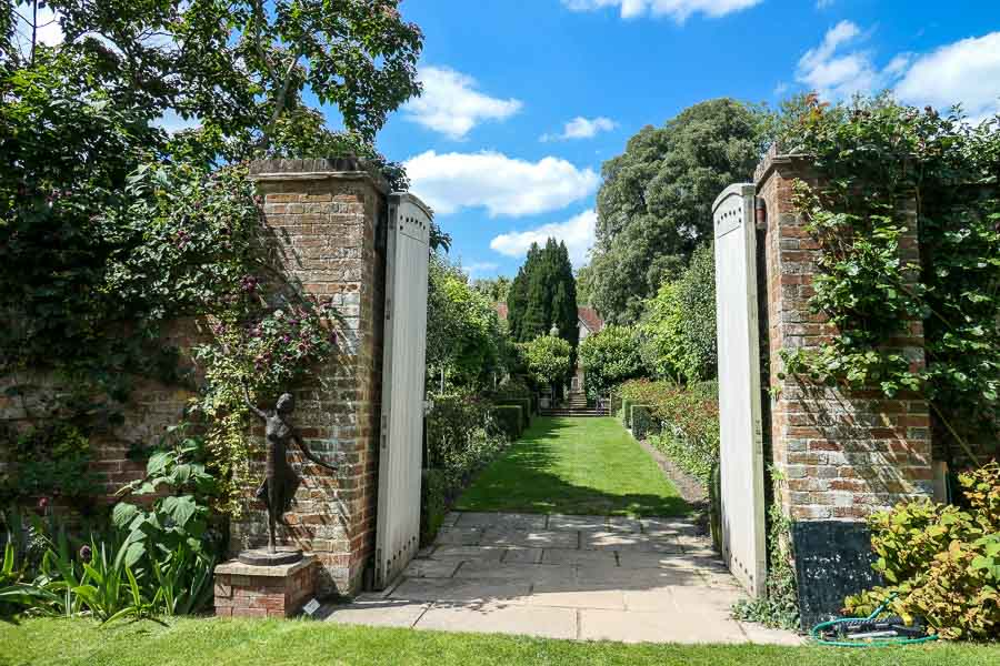 The walled garden - Pashley Manor Gardens in East Sussex