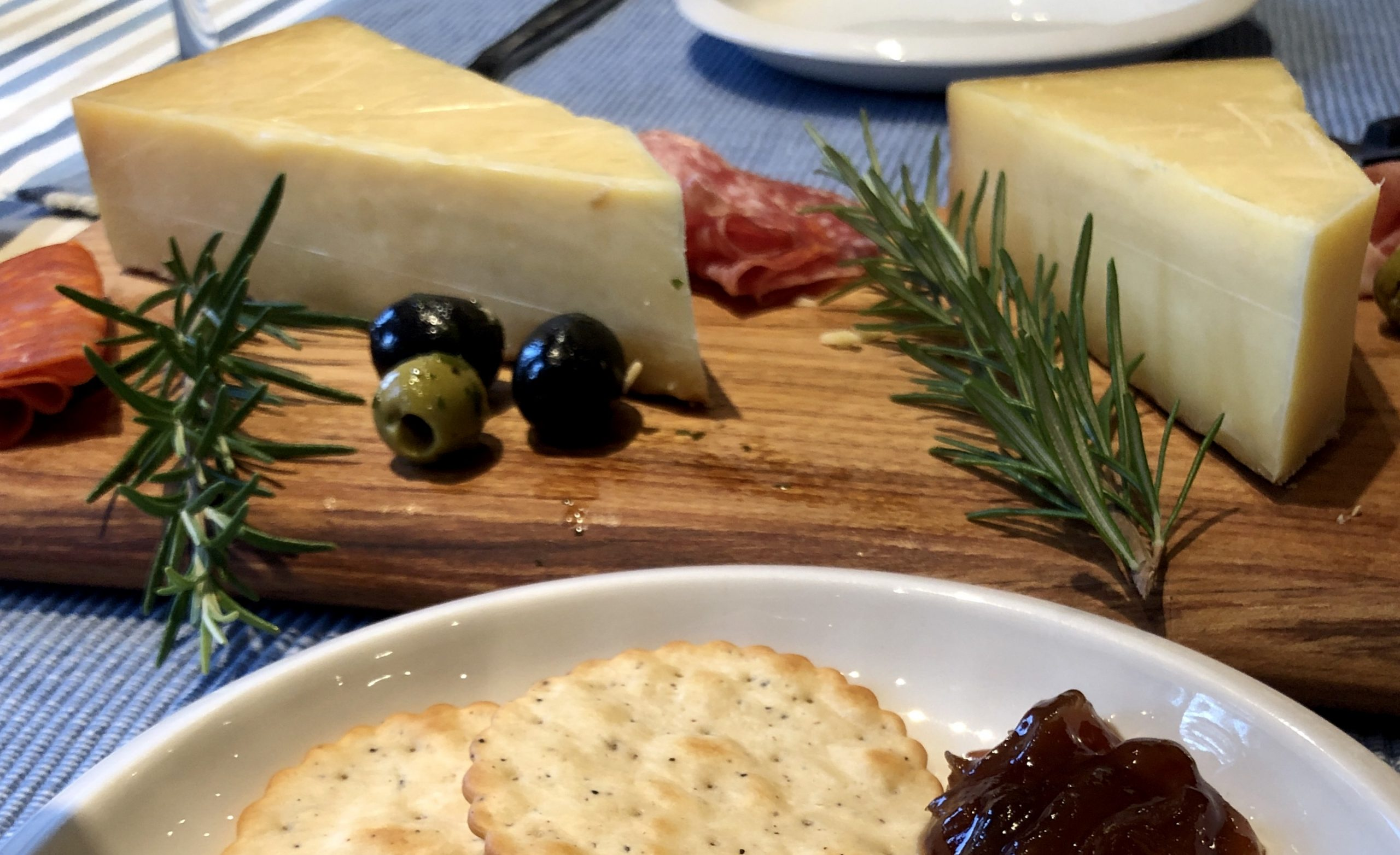Sussex Gift Guide- cheeseboard with olives and salami